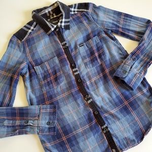 Hurley flannel button down size small